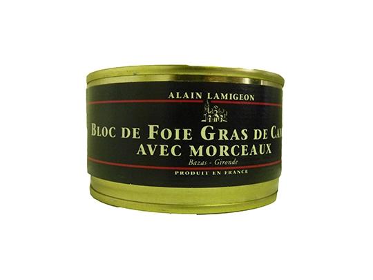 Bloc de Foie gras de Canard 130g avec Morceaux