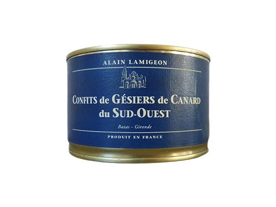 Confit de Gésiers entiers de Canard IGP Sud-Ouest 375g
