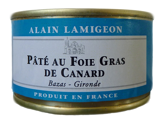 p t au foie gras de canard 130g lamigeon conserverie fond e en 1945. Black Bedroom Furniture Sets. Home Design Ideas