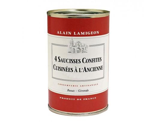 4 Saucisses Confites Cuisinées à l'Ancienne 250g